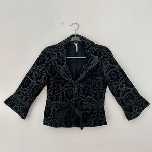Free People Black/Charcoal Corduroy Jacket Size 4